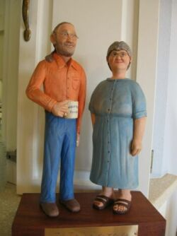 Wood Carving of Innkeepers